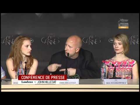 Lawless Full Press Conference - Cannes Film Festival 2012 (Hardy, Chastain, and Pearce)