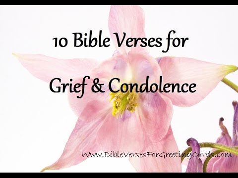 Bible Verses for Grief & Condolence