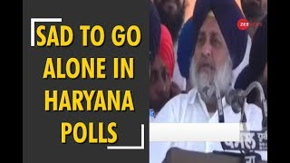 Shiromani Akali Dal to go alone for the parliamentary and state assembly elections in Haryana