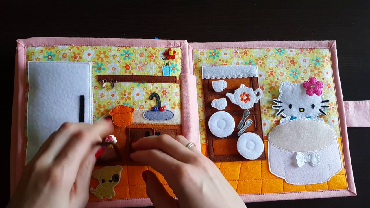 Quiet Book For Girls The Dollhouse With Kitty Youtube
