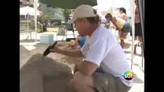 Escultura de areia em Itapema
