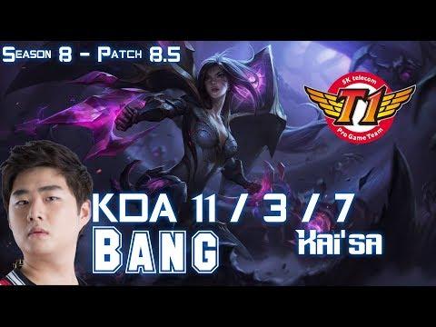 SKT T1 Bang KAI'SA vs EZREAL ADC - Patch 8.5 KR Ranked