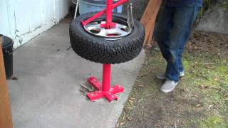 mounting a rally tire with a harbor freight manual tire changer