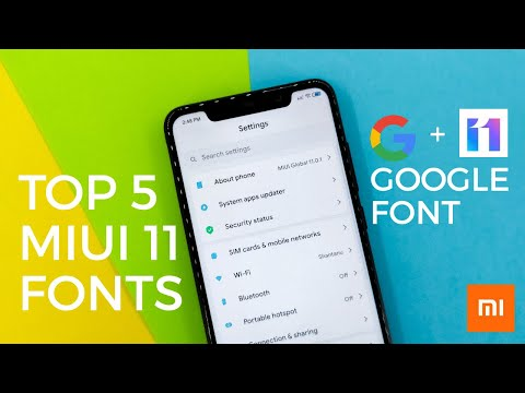 Miui 11 | Best 5 Fonts For January 2020 | Most Awaited Fonts | Google Font