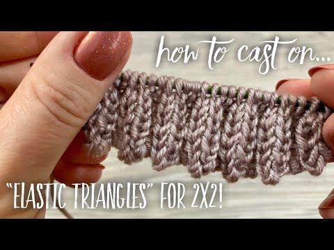 "КАК НАБРАТЬ ПЕТЛИ ЗУБЧИКАМИ ДЛЯ РЕЗИНКИ ДВА на ДВА / How To Cast On ""Elastic Triangles"""