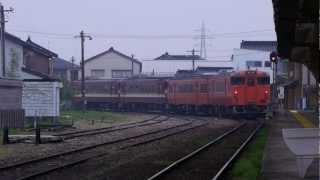 【JR氷見線】氷見駅 520D 普通 高岡行き【April 25, 2012 06:08am】