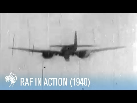 RAF in Action - first official record of aerial combat