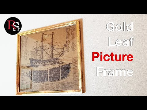Making A Gold Leaf Picture Frame - Woodworking