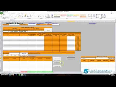 Microsoft Excel VBA demo - E & S Engineering