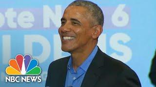 Fmr. President Obama Mocks Trump's Middle-Class Tax Cut: 'Congress Isn't Even In Session' | NBC News
