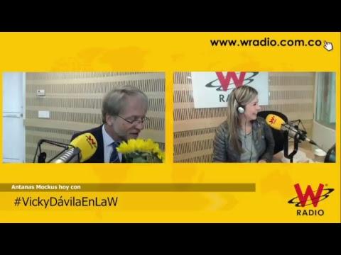 Antanas Mockus en La W con Vicky Dávila