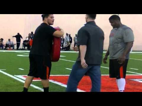 Kaleb Johnson And Betim Bujari Pro Day Workout