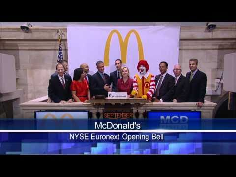 30 Sept 2010 McDonalds NYSE Opening Bell