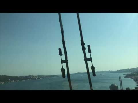 Europe to Asia: Crossing the Bosphorus Strait (Strait of Istanbul) by a Metrobus from Europe