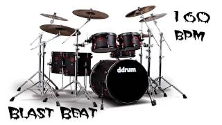 Blast Beat Drum Loop 160 bpm