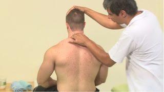 Costas massagem das nas musculares dores