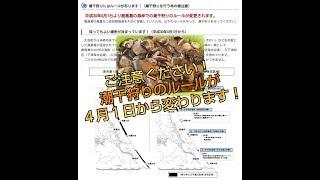 平成30年4月から 茨城での潮干狩りルールが大幅に変更となります! 採取...