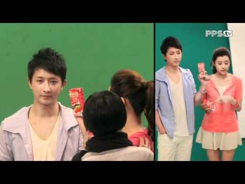 120213 HanGeng at shooting Mengniu Sour Milk CF
