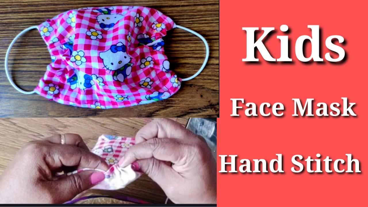 How to make Kids Mask hand Stitch/Corona virus (Covid-19) Mask Chithra Gopal Art & Craft