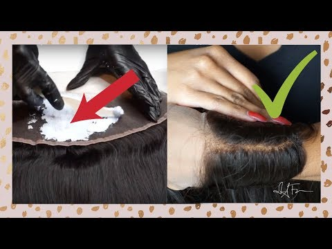 ✨MAKE YOUR FRONTAL LOOK LIKE SCALP | HOW TO PERFECTLY BLEACH KNOTS ON YOUR FRONTAL