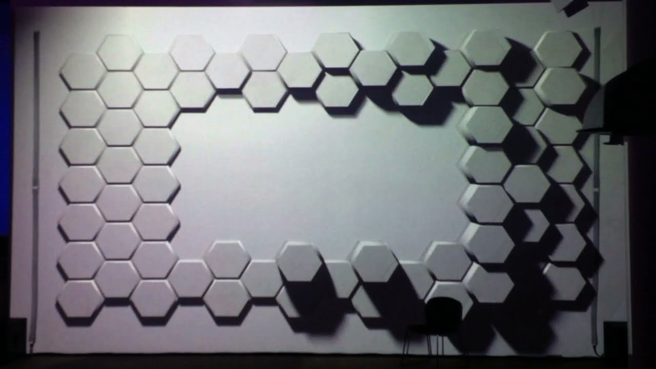 Hexagons 3d Projection Mapping Experiment On Wall With Hexagonal Tiles Youtube