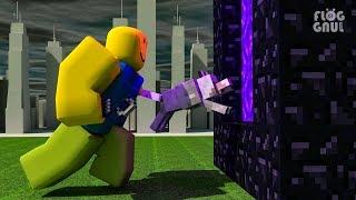 Lupo e Noob Avventura [ Animazione storia divertente ] Roblox & Minecraft