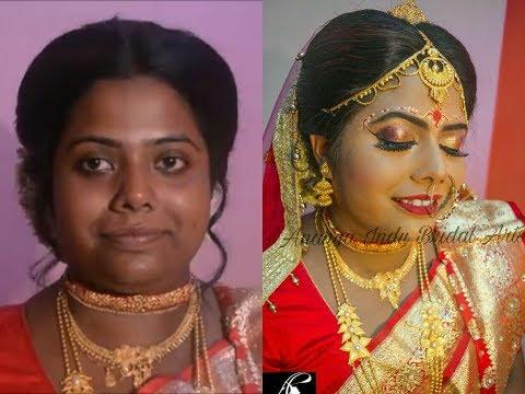 Traditional Bengali Bridal Makeup Tutorial For Dusky Beauty