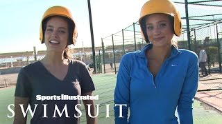 Hannah Davis And Emily Didonato At The Batting Cages | Sports Illustrated Swimsuit