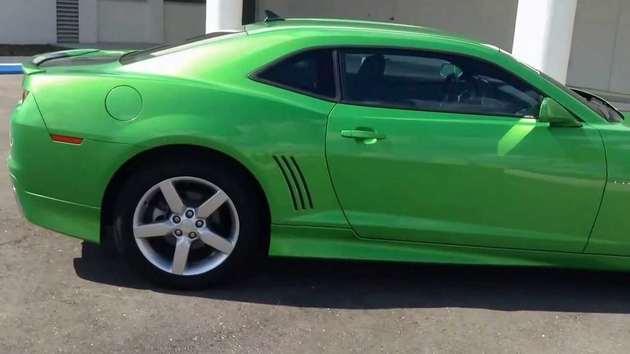 2010 Chevy Camaro Lt Synergy Green For Sale In Tampa Bay