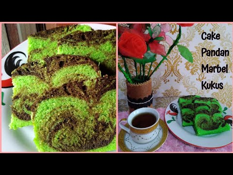 cake-pandan-marbel-kukus- -4-telur-resep-takaran-sendok