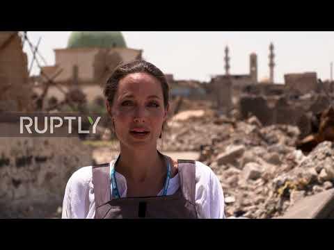 Iraq: 'The worst devastation I've seen' - Angelina Jolie visits Mosul on Eid