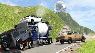 Truck Vs Mount Danger   BeamNG Drive