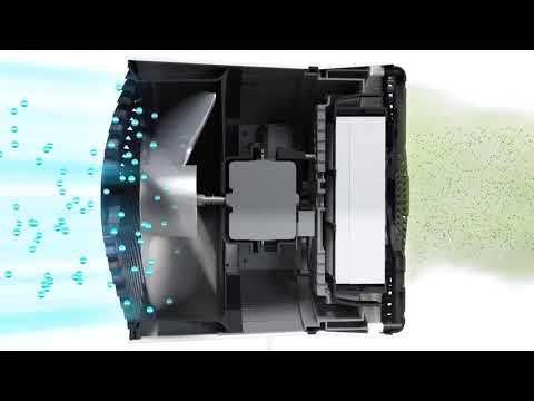 Air Shower Fan 3D Animation