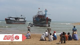 Cạn cửa biển Đà Diễn, ngư dân gặp khó   VTC