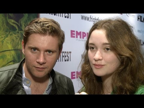 In Fear Allen Leech & Alice Englert Interview Frightfest 2013