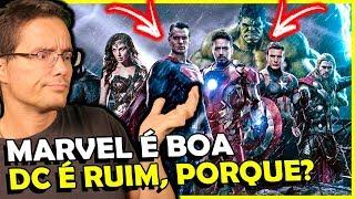 PORQUE VINGADORES DEU CERTO E A LIGA NÃO? Marvel vs DC comics