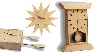 3 Amazing DIY Cardboard Project Wall Clocks – 3 DIY Projects from Cardboard