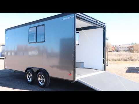 Lifted 8.5x18 Wells Cargo Trailer Insulated with Windows