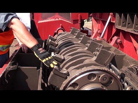 Morbark Equipment Parts - Bedrock Insert Testing