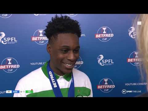 Jeremie Frimpong's excellent interview after Celtic beat Rangers yesterday