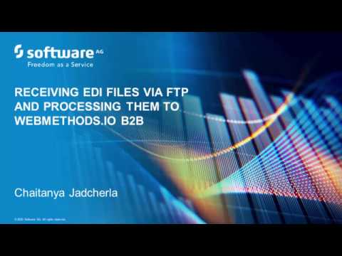 Receiving an EDI file via FTP into webMethods.io B2B