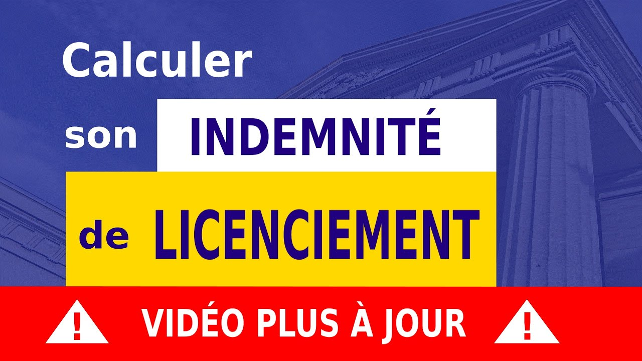 Indemnite De Licenciement Definition Calcul Youtube