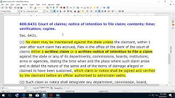 Notice of Intention to File Claim