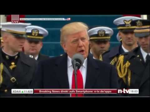 Donald Tramp first speech President of the United States 20.01.2017