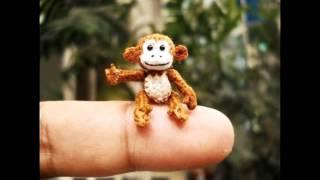 Suami Miniature Crochet Animals, Dollhouse Amigurumi Toys