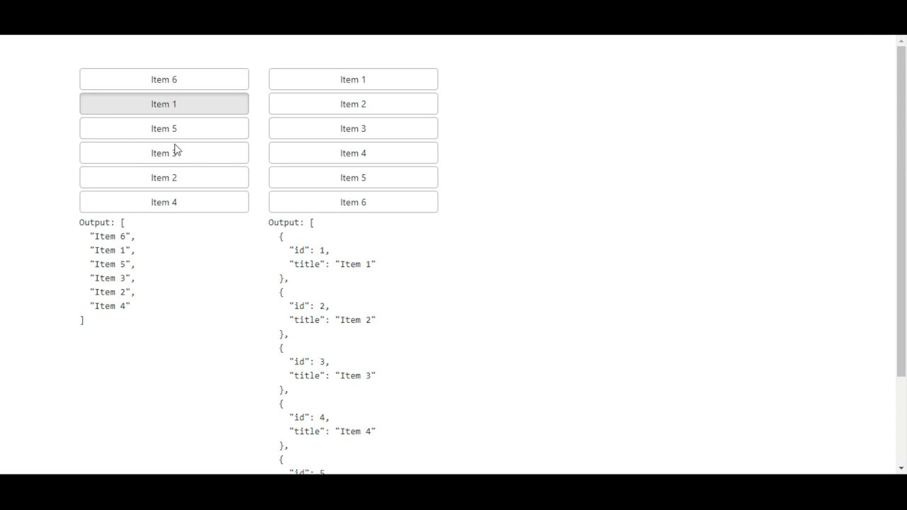 Sortable Elements in Angular Application - Education For Betterment