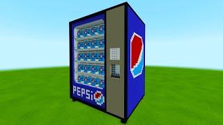 Minecraft: How To Make Giant Pepsi Vending Machine