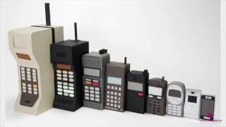 видео Самые первые мобильные телефоны. История создания телефона. Семимильными шагами к современности.