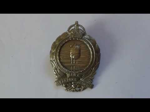 WW1 ROYAL NAVY MINE CLEARANCE SERVICE SLEEVE BADGE 1919