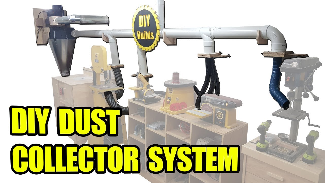 Diy Dust Collector System With Homemade Blast Gates And Automatic